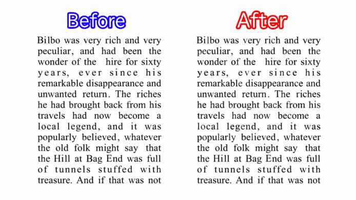 ▲加密處理前(左)與加密處理後(右)的文章,肉眼很難察覺內容變化。