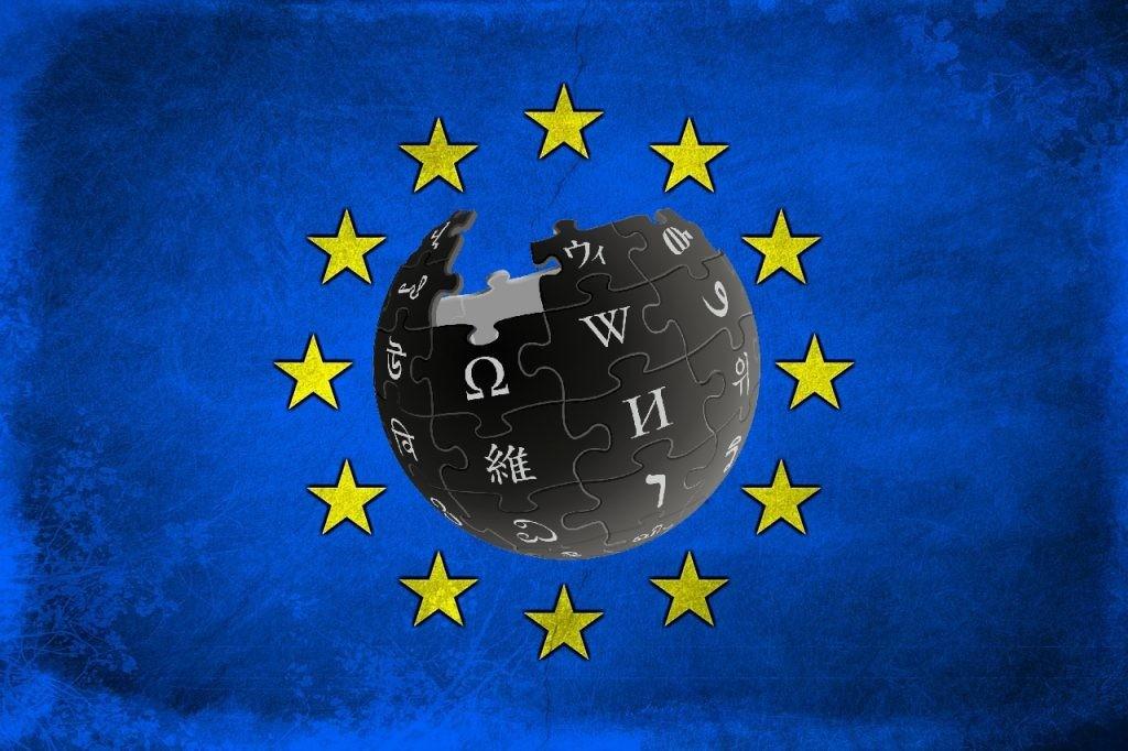 義大利維基百科觀戰,抗議歐盟即將表決的數位版權保護法案。