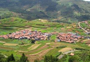 以農業為主的印度聚落。
