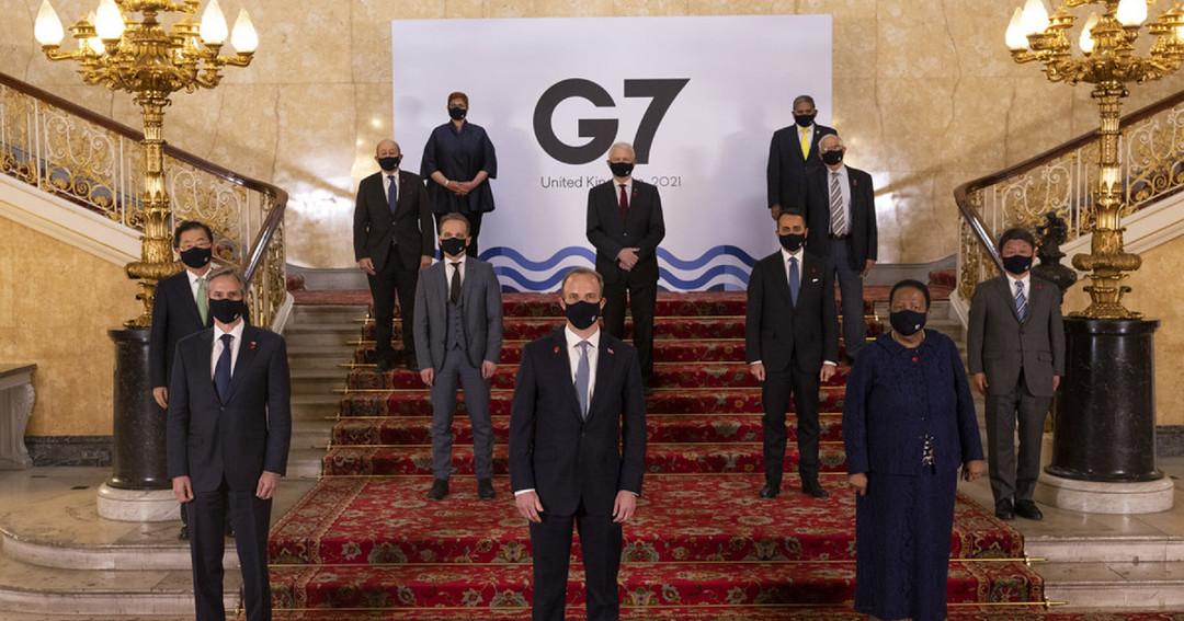 G7 聯合聲明提到中國和台灣